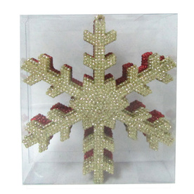 Holiday Living 6-Pack Red and Gold Shatterproof Snowflake Ornaments
