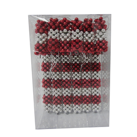 Holiday Living 6-Pack Burgundy and Silver Shatterproof Candy Cane Ornaments