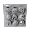 Holiday Living 9-Pack Matte and Shiny Silver Metal Shatterproof Acorn Jingle Bell Ornaments