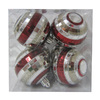 Holiday Living 8-Pack Burgundy and Silver Shatterproof Disco Ornaments