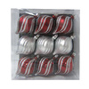 Holiday Living 9-Pack Burgundy and Silver Shatterproof Onion Swirl Ornaments