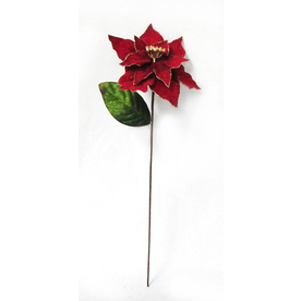 Holiday Living HL 22-in Red Poinsettia Pick