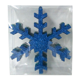 Holiday Living 6-Pack Blue Teal and Silver Shatterproof Snowflake Ornaments