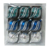 Holiday Living 9-Pack Blue Teal and Silver Shatterproof Onion Shaped Ornaments