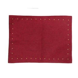 allen + roth Fabric Red Dot Placemat Holiday Decoration