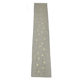 allen + roth Fabric Natural Vine Table Runner Indoor Holiday Decoration