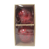 allen + roth 2-Pack Red Glass Blown Glass Ornaments with Inside Texture Ornaments