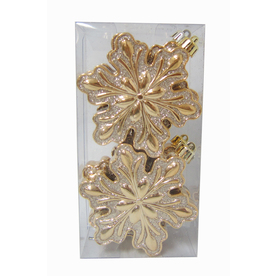 Shop holiday living 6 pack gold ornament set at lowes com