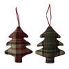 Holiday Living 2-Pack Plaid Ornament Set