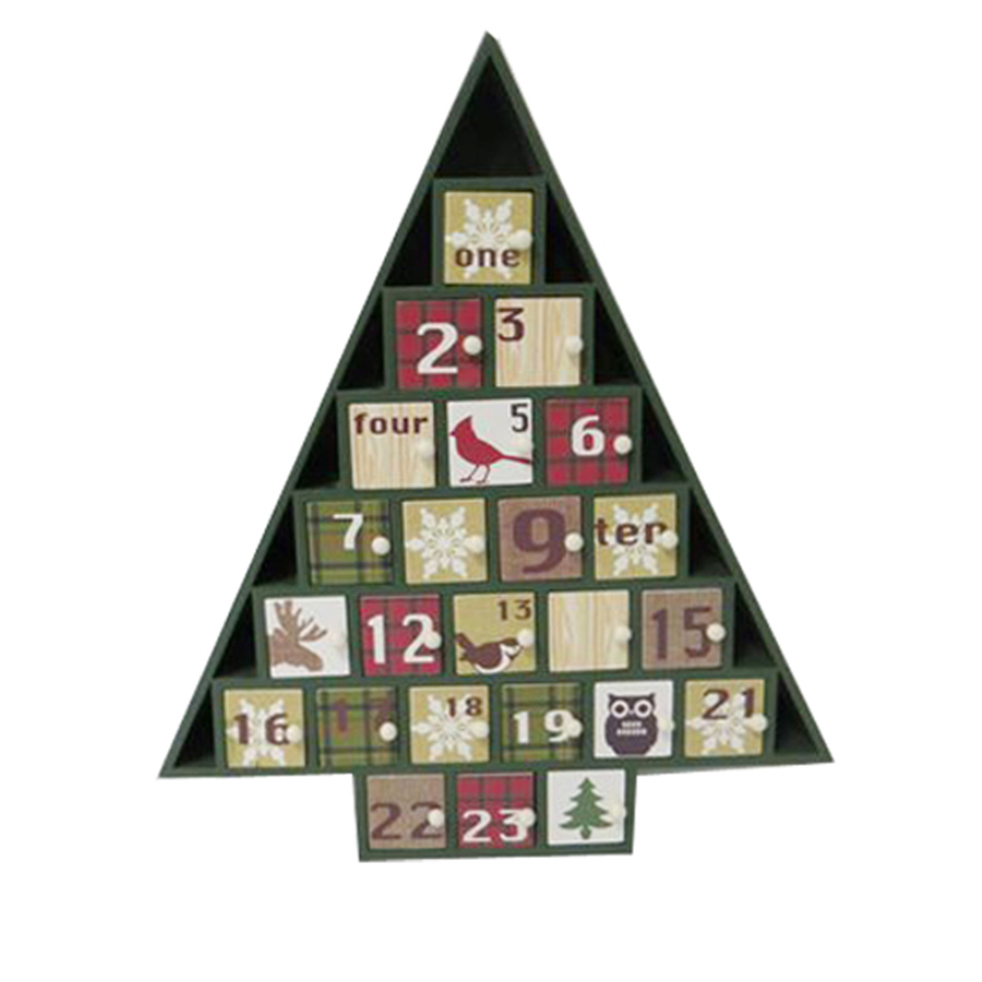 Shop holiday living 1 piece holiday lodge tabletop advent for Advent calendar decoration