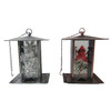 Holiday Living Aged Copper or Aged Pewter Metal Platform Bird Feeder