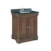 allen + roth Fenella 30-1/2-in x 22-in Rich Cherry Single Sink Bathroom Vanity with Granite Top