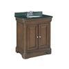allen + roth Fenella Rich Cherry Undermount Single Sink Poplar Bathroom Vanity with Granite Top (Actual: 30.5-in x 22-in)