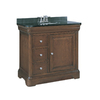 allen + roth Fenella Rich Cherry Undermount Single Sink Poplar Bathroom Vanity with Granite Top (Actual: 36.5-in x 22-in)