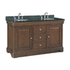 allen + roth Fenella Rich Cherry Undermount Double Sink Poplar Bathroom Vanity with Granite Top (Actual: 60.5-in x 22-in)
