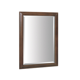 allen + roth 33-in H x 24-in W Fenella Sable Rectangular Bathroom Mirror