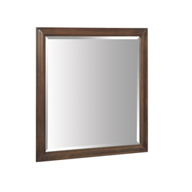 allen + roth 33-in H x 30-in W Fenella Sable Rectangular Bathroom Mirror