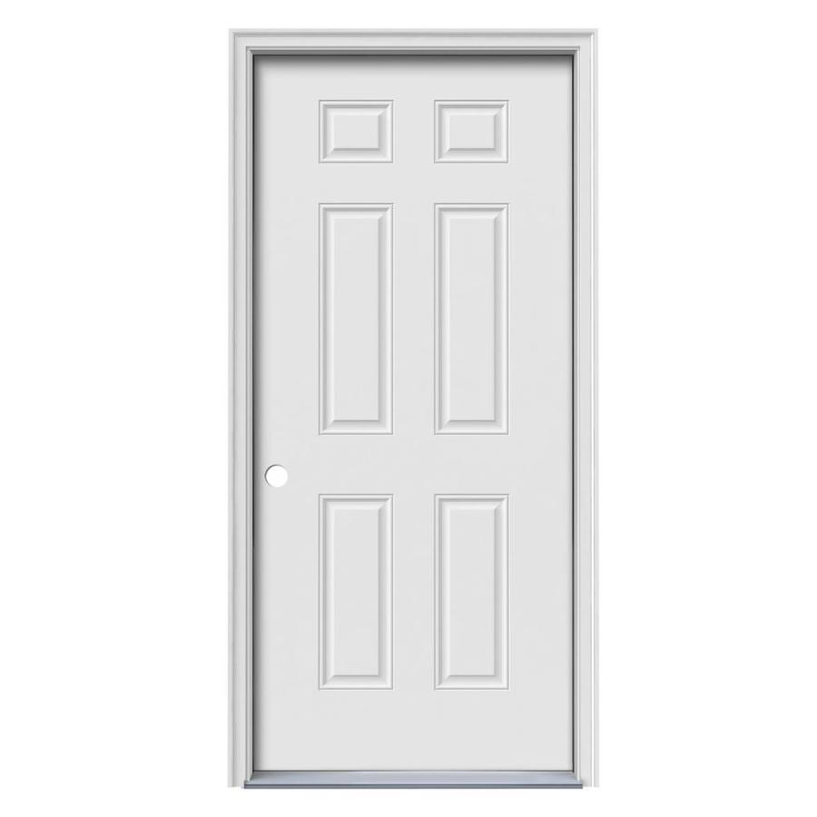 Steel doorse steel entry doors 32 x 80 for Prehung exterior doors with storm door