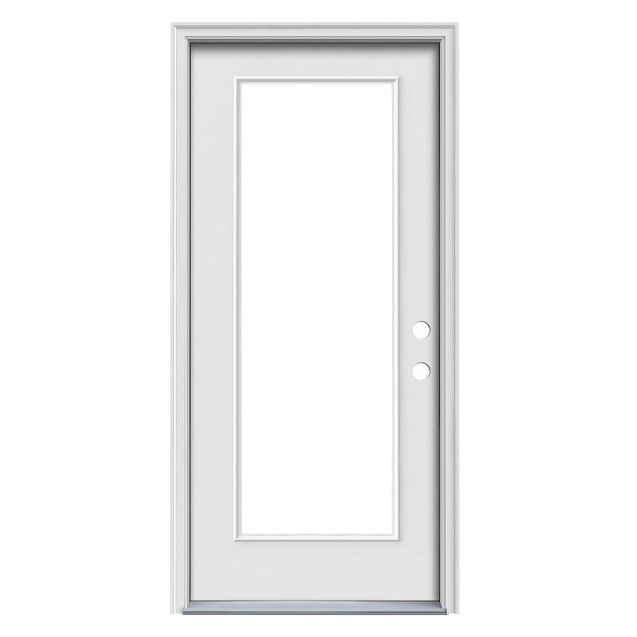 Shop Reliabilt Full Lite Prehung Inswing Steel Entry Door Common 36 In X 80 In Actual 37 5