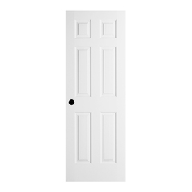 ReliaBilt 6-Panel Insulating Core Primed Steel Slab Entry Door (Common: 36-in x 80-in; Actual: 79-in x 35.75-in)
