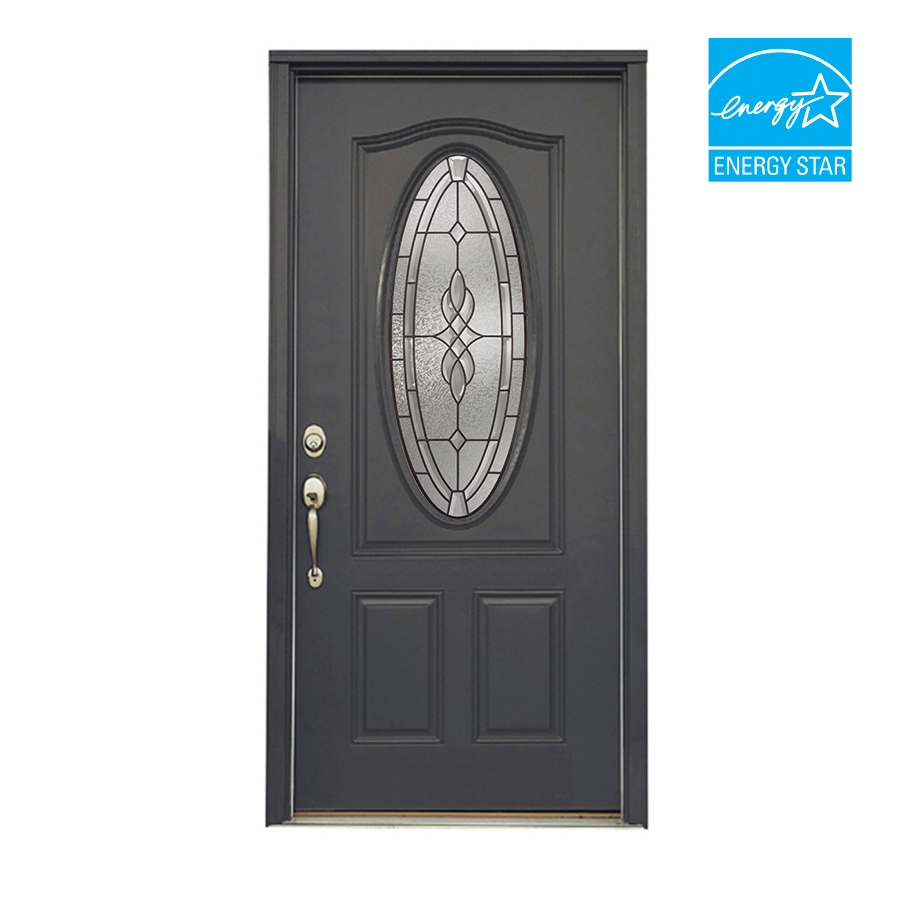 Shop reliabilt 36 hampton steel entry door unit at for Metal entry doors