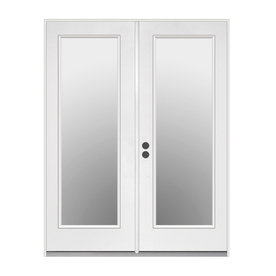 ReliaBilt 71.5-in Low-E Insulating 1-Lite Steel French Inswing Patio Door