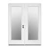 ReliaBilt 59.5-in Low-E Insulating 1-Lite Steel French Inswing Patio Door
