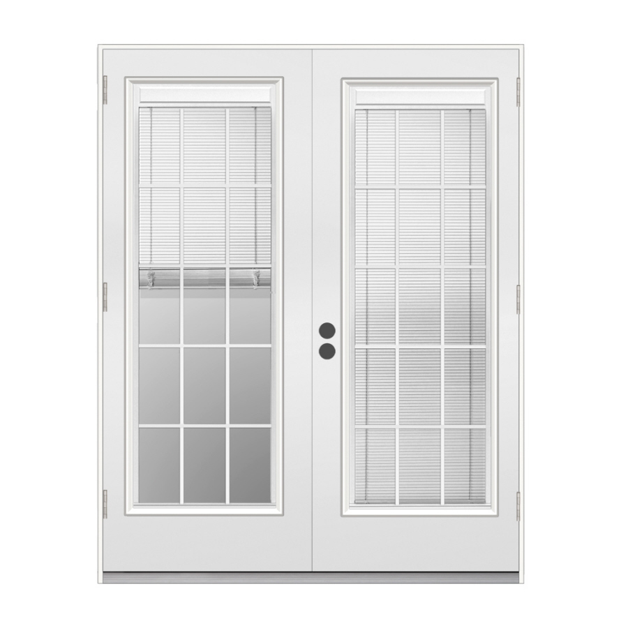 Shop reliabilt 71 5 in blinds between the glass steel for Glass french doors exterior