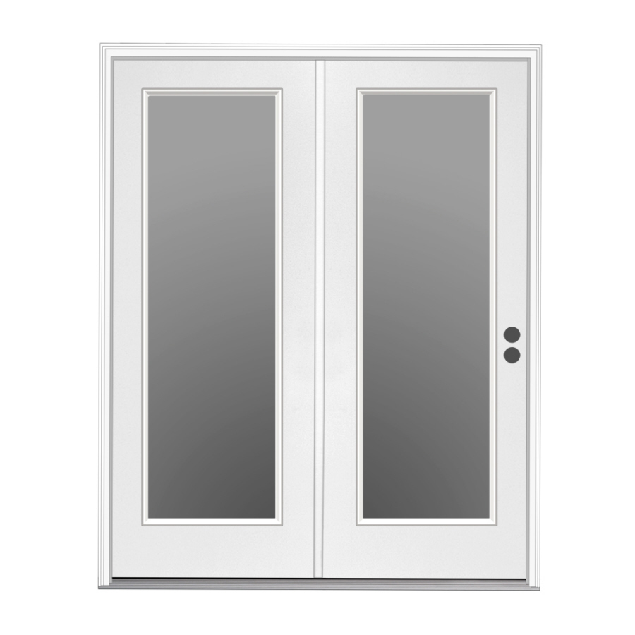 Shop reliabilt 71 5 in 1 lite glass steel center hinged for Center hinged patio doors