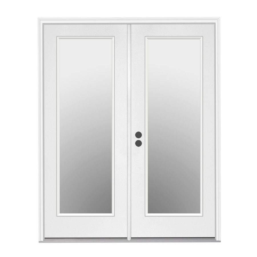 Shop ReliaBilt 71 5 In 1 Lite Glass Steel French Inswing Patio Door At