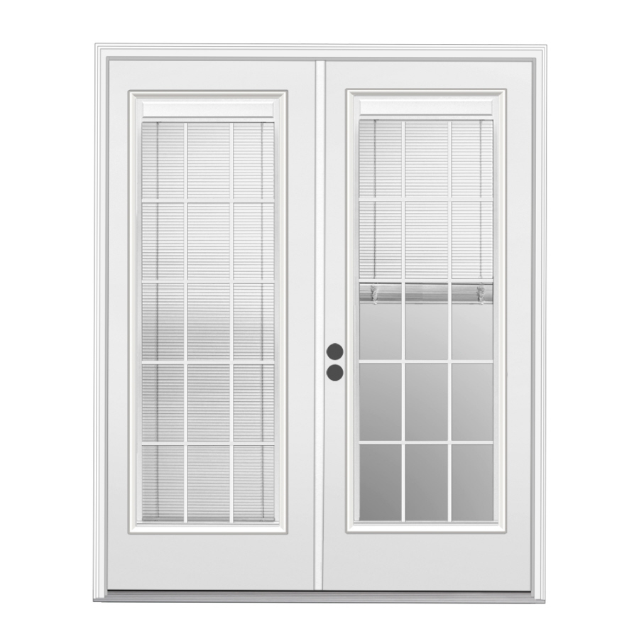 Shop reliabilt 71 5 in blinds between the glass steel for Special order french doors