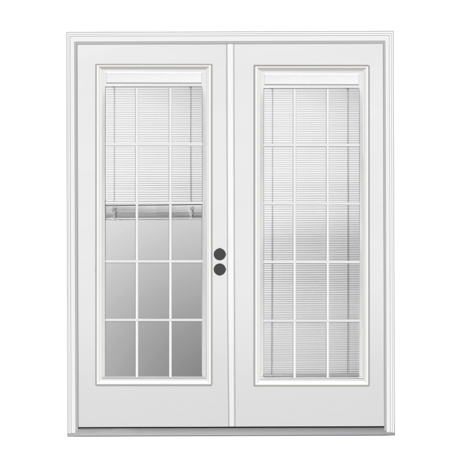 Shop reliabilt 71 5 in blinds between the glass primer for Triple french doors exterior