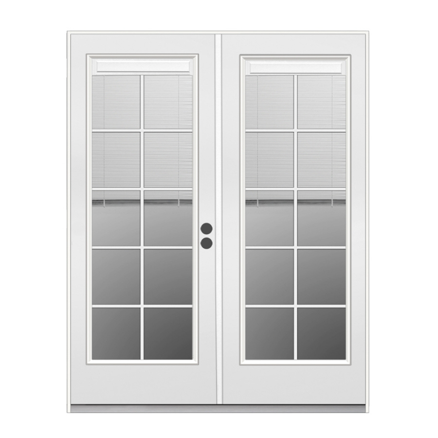 Exterior french doors with built in blinds for Lowes patio doors with built in blinds
