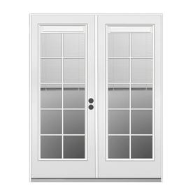 ReliaBilt 71.5-in Blinds Between the Glass Primer White Steel French Inswing Patio Door