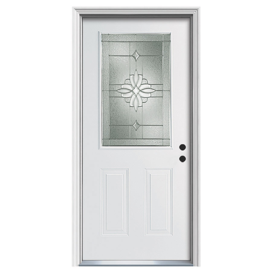 Shop ReliaBilt 2 Panel Prehung Inswing Steel Entry Door Common 36 In X 80 I