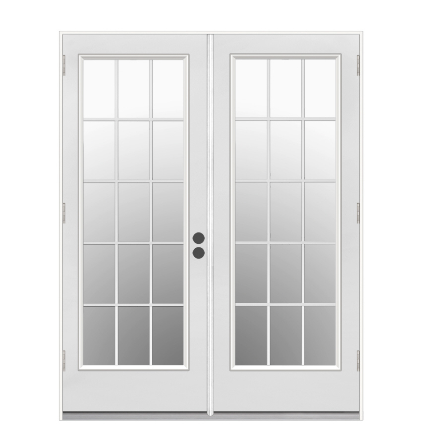 French doors exterior french doors exterior outswing lowes for Folding patio doors lowes