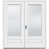 JELD-WEN 71.5-in 1-Lite Glass Primer White Composite French Inswing Patio Door