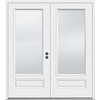 JELD-WEN 5-ft 11-1/2-in Low-E Insulating 1-Lite Composite French Inswing Patio Door