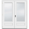 JELD-WEN 5-ft 11-1/2-in Low-E Insulating 1-Lite Composite French Outswing Patio Door