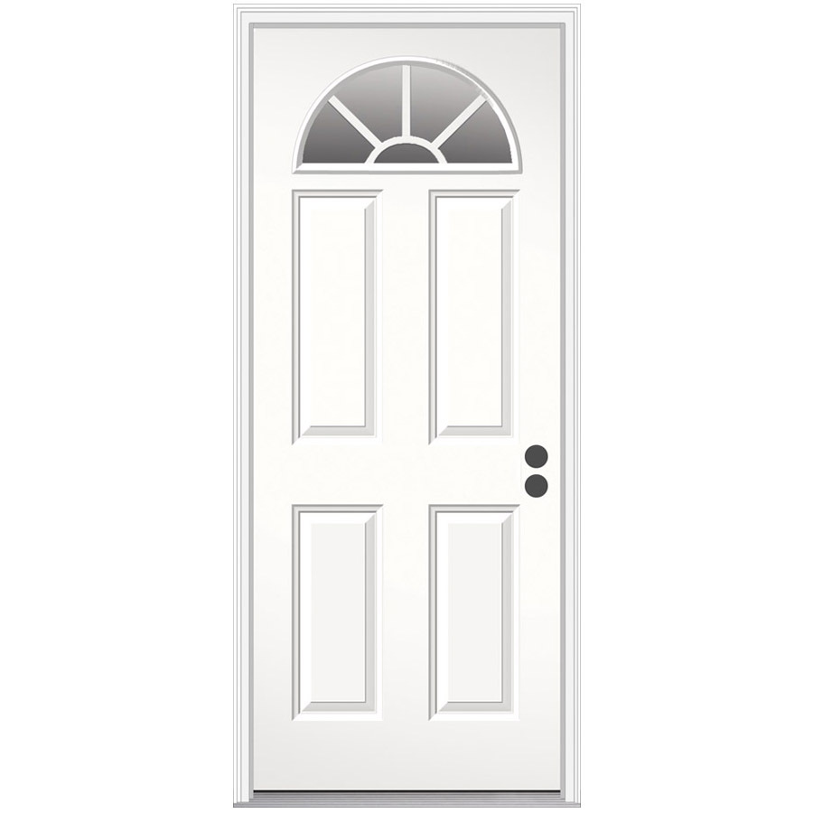 Shop reliabilt 4 panel prehung inswing steel entry door for Upvc front door 78 x 30