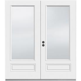 JELD-WEN 71.5-in 1-Lite Glass Composite French Inswing Patio Door