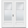 JELD-WEN 5-ft 11-1/2-in Low-E Blinds Between The Glass Composite French Inswing Patio Door