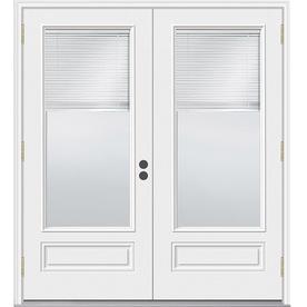 JELD-WEN 71.5-in Blinds Between the Glass Composite French Outswing Patio Door