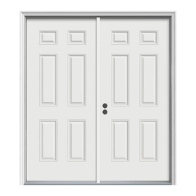 Interior door prehung interior doors lowes for Exterior double doors lowes