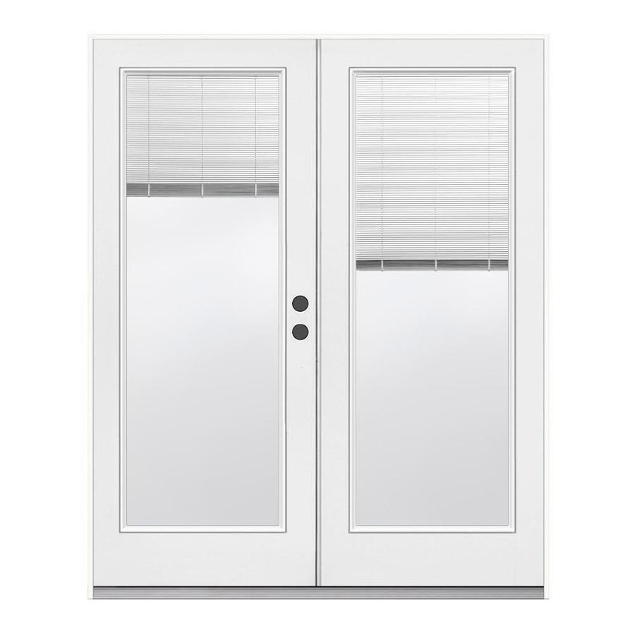 Shop reliabilt 71 5 in tilt and raise glass steel french Outswing exterior french doors with blinds