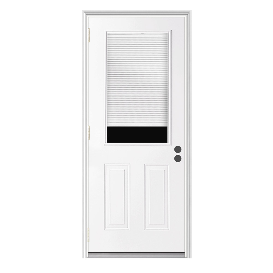 Shop reliabilt blinds between the glass half lite prehung for Steel entry doors