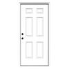 ReliaBilt 6-Panel Insulating Core Right-Hand Inswing Primed Fiberglass Prehung Entry Door (Common: 36-in x 80-in; Actual: 37.5-in x 81.75-in)