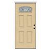 ReliaBilt 36-in Decorative Inswing Fiberglass Entry Door