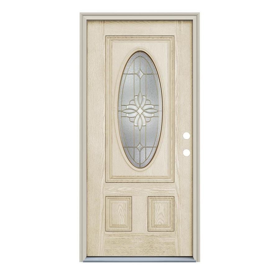 Shop reliabilt decorative prehung inswing fiberglass entry for Exterior fiberglass doors