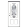ReliaBilt 36-in x 80-in Oval Lite Inswing Steel Entry Door